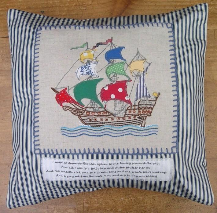 My Tall Ship Cushion