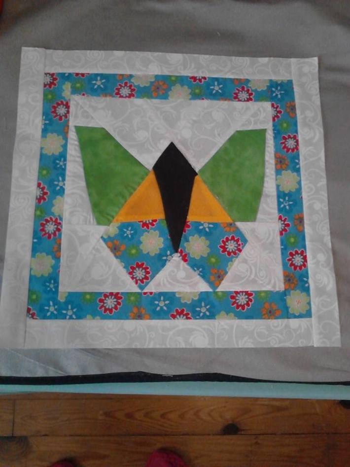 Butterfly Pieced Quilt Block