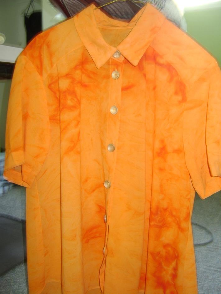 Tie dye style blouse!