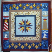 Nautical Star Paper Pieced Quilt