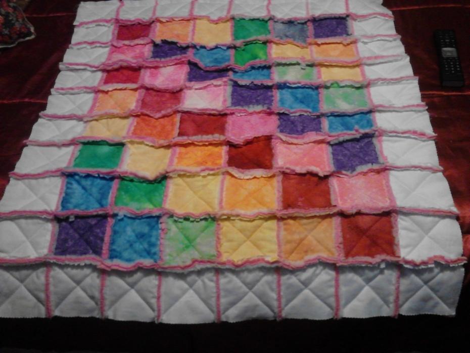 My Raynbow's Rag Quilt