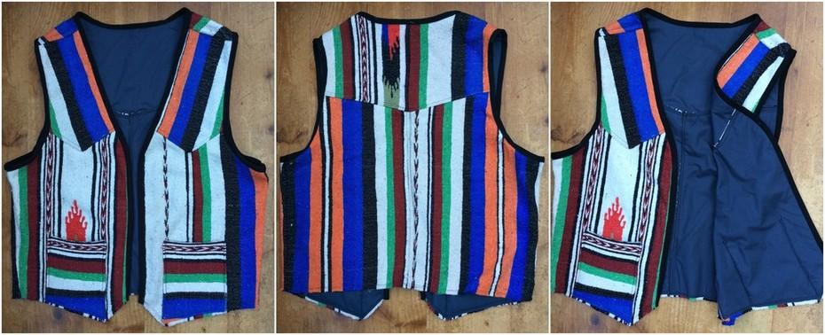 Mexican Blanket Waistcoat Version 2