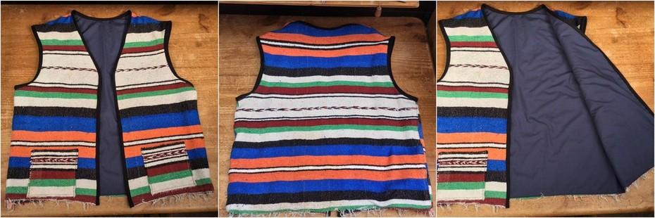 Mexican Blanket Waistcoat Version 1