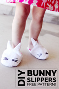 Sew Easy Toddler Bunny Slippers - A Free PDF Sewing Pattern from See Kate Sew