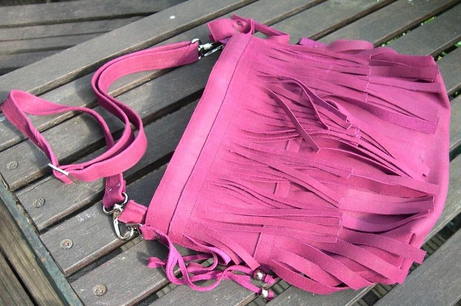 Boho Suede Leather Fringe Bag