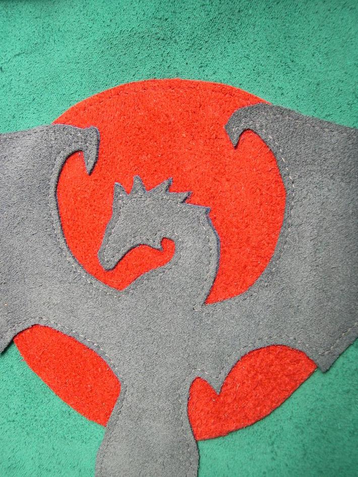 Suede Dragon Applique