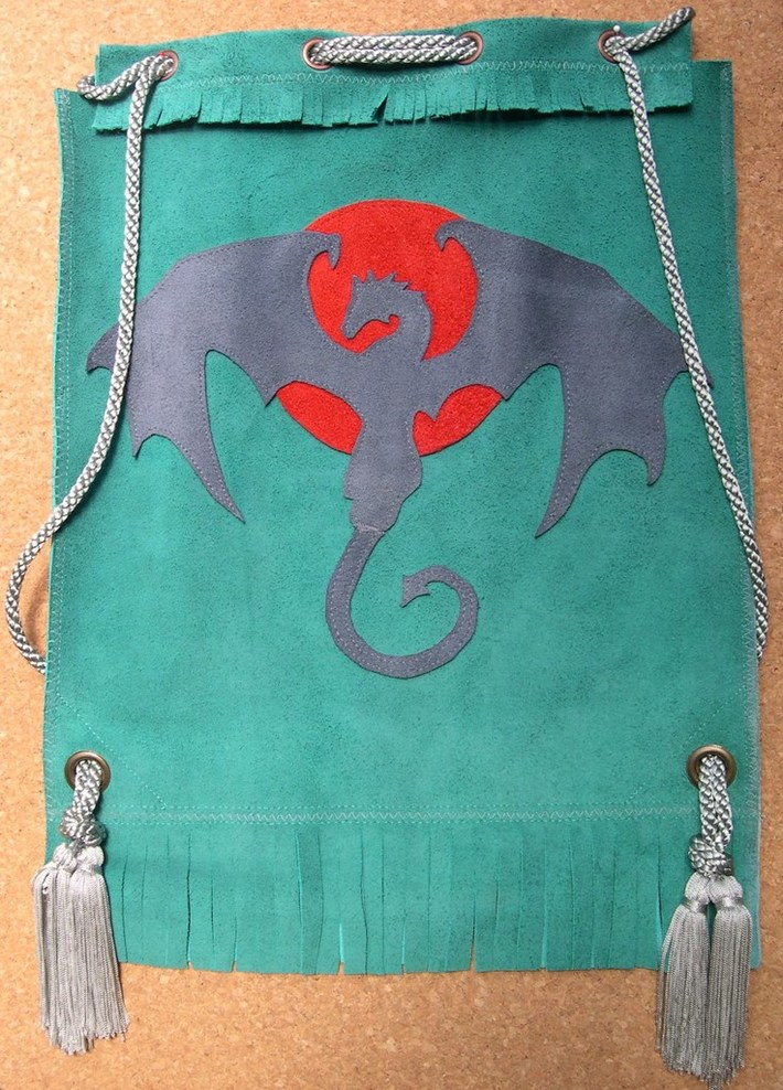 Sewing with Suede - Dragon Applique