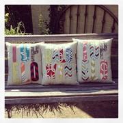 Appliqued pillows