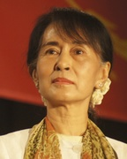 Daw Aung San Suu Kyi at the University of San Francisco on September 29, 2012