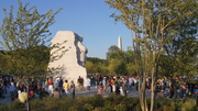 Stone of Hope with Washington Monument in background