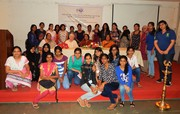 Students of MA Economics with Prof. Maxine Berntsen at VI Dr. Neera Desai Memorial Lecture 24-9-2015