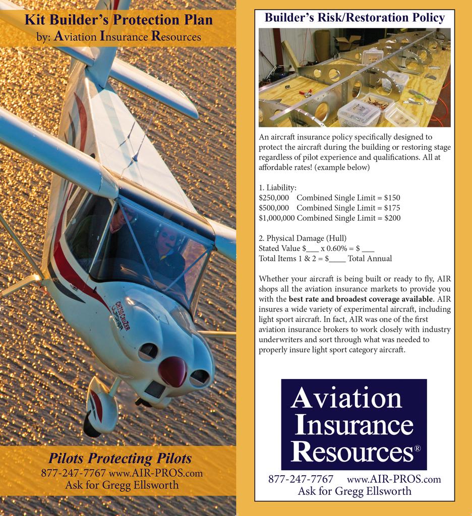 Builder Insurance: Kit Builder's Protection Plan - Zenith Aircraft