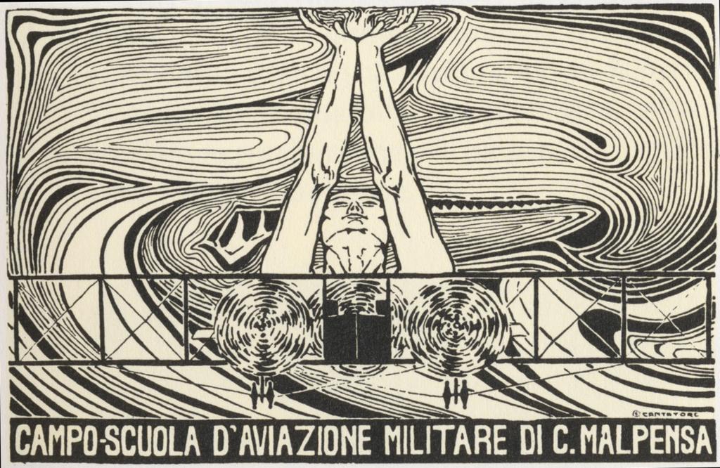 Cascina Malpensa postcard from WWI