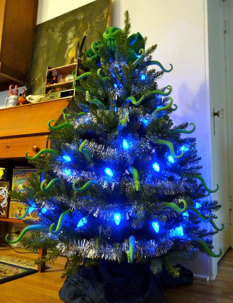 Archie McPhee's Cthulhu Christmas tree