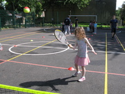Tennis coaching for 5-11 year olds at Fairland Park