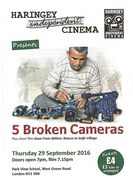 HIC presents FIVE BROKEN CAMERAS