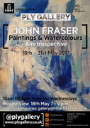 John Fraser Paintings & Watercolours retrospective exhibition (until May 31st)