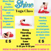 Yoga Sessions Thursday evenings.