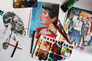 Art of colour -mixed medias class