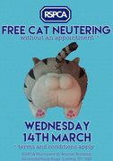 Free Cat Neutering Day - RSPCA