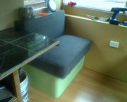 bench bed left hand side installed