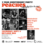 """Peaches"" 3 Year Anniversary party"