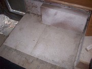 Rear floor with the rotted area removed