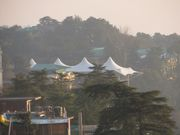 Tented area at main temple in McLeod Ganj