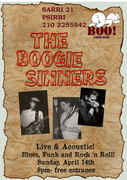 The Boogie Sinners Acoustic Trio live at ''BOO'' Cafe Bar
