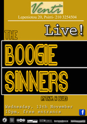 The Boogie Sinners live at ''Venti Club Restaurant''
