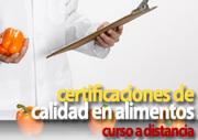 Curso a Distancia de Introducción a las Certificaciones de Calidad en Alimentos