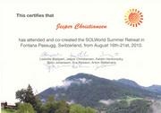Retreat certificate