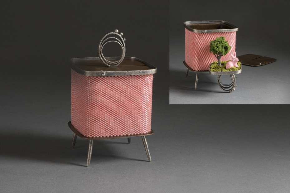 pink bunny ring box