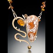 textile cone necklace