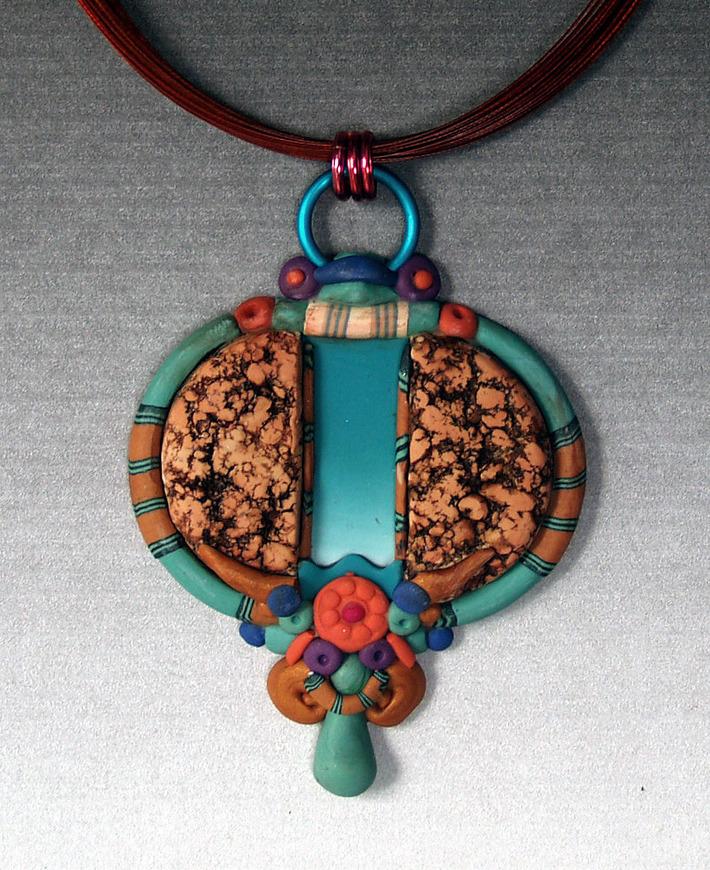 layered split pendant