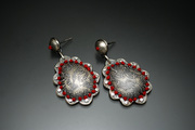 silver scalloped teardrops with red embroidery 2