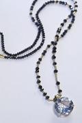 Rutilated Quartz Black Diamond Necklace