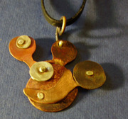 sculptural pendant with moving arm