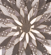 Black and White Paper Pendant Detail