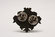 Brooch with Gemstone Buttons