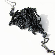 Shades of Black Trace Chain Single Link Necklace 01, 2009. Liana Pattihis