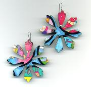 Earrings from Game Boards, GAME On!!!!! by Harriete Estel Berman