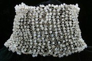 Knitted pearl necklace