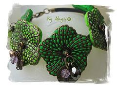 Bracelet Hadassah Beads green