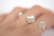 Colleen Baran- Two Finger Floating Saucer Series Ring
