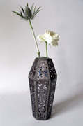 Faceted Bud Vase #1 (with flowers)