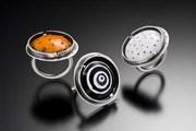 enamel circle rings