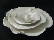 Floral Nesting Bowls and Bud Vase