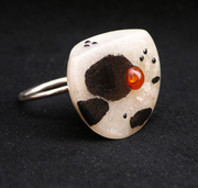 Amber Cow Ring
