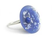 Blue Resin Ring